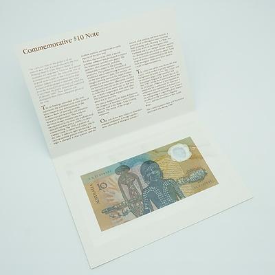 1988 Australian Polymer Bicentennial Commemorative $10 Note, AA21078951