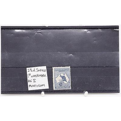Single 2 1/2 D Die II Indigo 1st Watermark Two Pence Half Penny Stamp