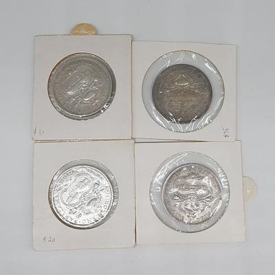 Four Australian 1927 Silver Parliament House Florins