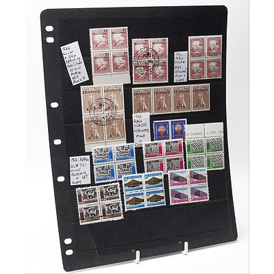 Sheet of Forty-Six Various Peru Stamps Including A Block of Four 1966 Peru SG Cat #264a O/Printed Stamps and More