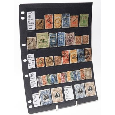 Sheet of Thirty-Six Stamps Including Peru Scott Cat No's. J28-J43 Deficit Short Set and More