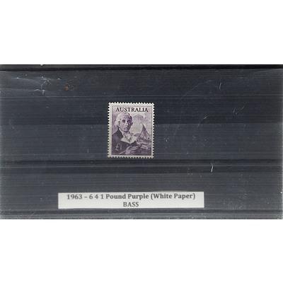 1963 - 6 4 1 Pound Purple (White Paper) BASS