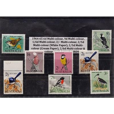 Eight Australian Native Birds Stamps