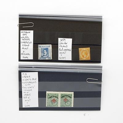 1859 Ionian Island 1/2d Orange Stamp, Date Unknown Walter Mercer Cinderella Stamp and More
