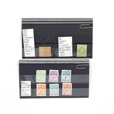 1861 Victoria State Queen Victoria Offset Error Stamp, 1860 Western Australia Imperforate Error Stamp and More