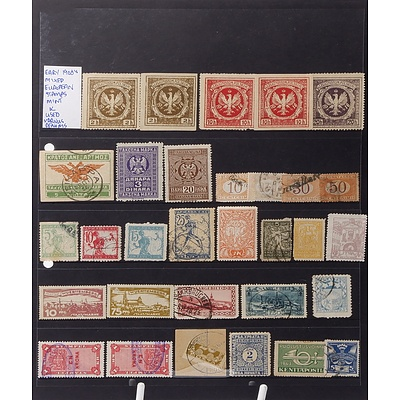 Early 1900's Mixed European Stamps, Used