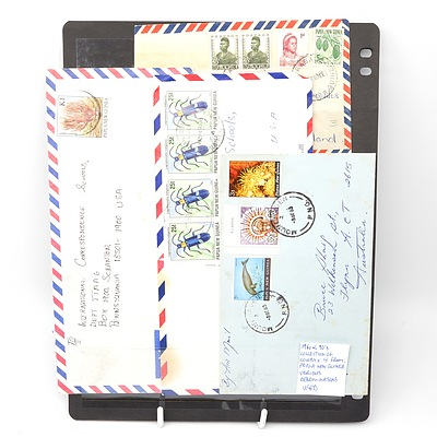Four 1960's-1990's Collection of Covers from Papua New Guinea