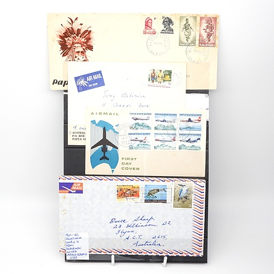 Four 1960's-80's Collection of Covers from Papua New Guinea