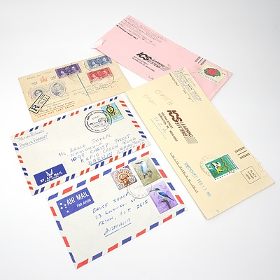 Five 1937-1990's Collection of Covers from British Solomon Islands and Papua New Guinea
