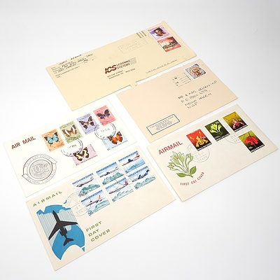 Five 1960's-1996 Collection of Covers from Papua New Guinea