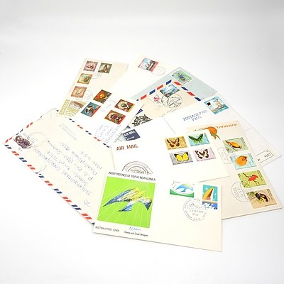 Ten 1967-1996 Collection of Covers from Papua New Guinea