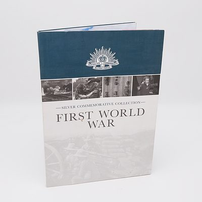 Macquarie Mint Silver Commemorative Collection - The First World War, with Seven Coins