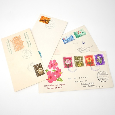Four 1959-1962 Collection of Covers from The Nedelands and Papua New Guinea