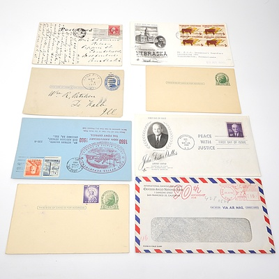 Eight 1911-1967 Collection of Postcards and Covers from The United States of America