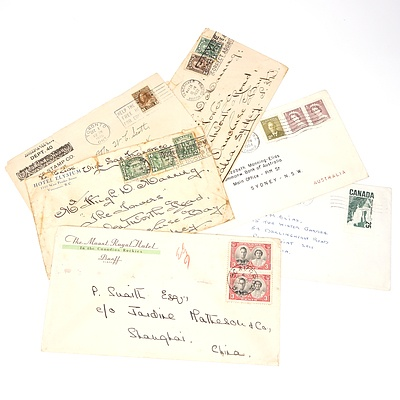 Six 1920-1968 Collection of Covers from Canada