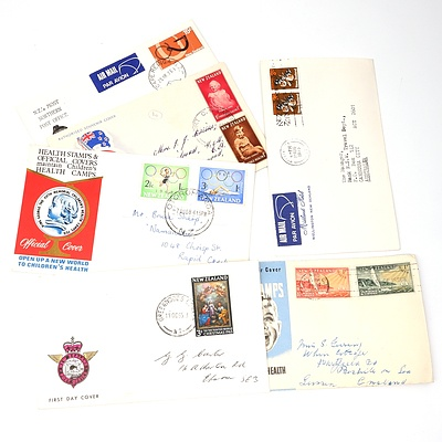 Six 1951-1973 Collection of Covers from New Zealand