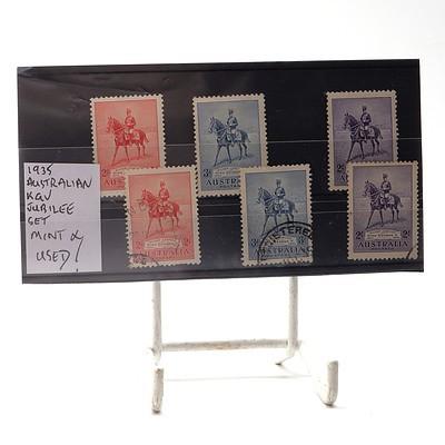 1935 Australian King George V Jubilee Set, Mint and Used