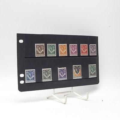 1953 Queen Elizabeth Short Stamp Set, Lightly Hinged