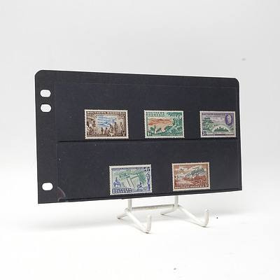 1953 Southern Rhodesia Full Stamp Set 1/2d - 1/-, Lightly Hinged