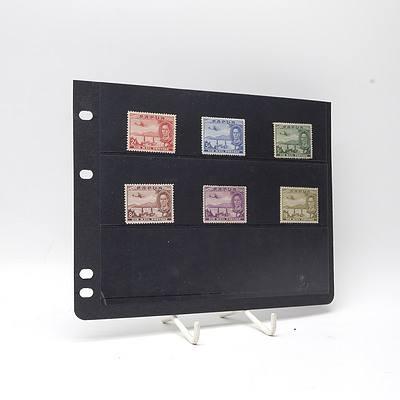 1939 King George VI Papua Air Mail Full Stamp Set, Lightly Hinged