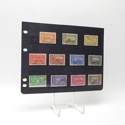 1946 King George VI Bahamas Victory Short Stamp Set 1/2d - 1/-, Used
