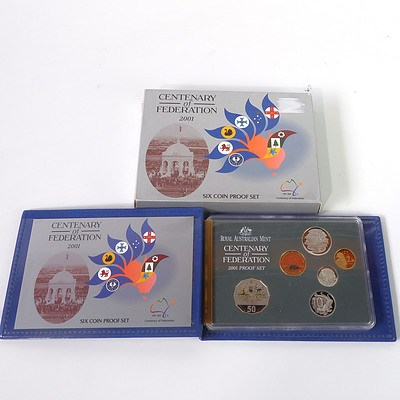 RAM 2001 Six Coin Proof Set, Centenary of Federation