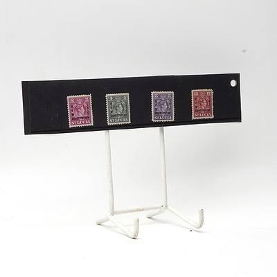 1951 King George VI 'New Constitution' Stamp Set 2c - 12c