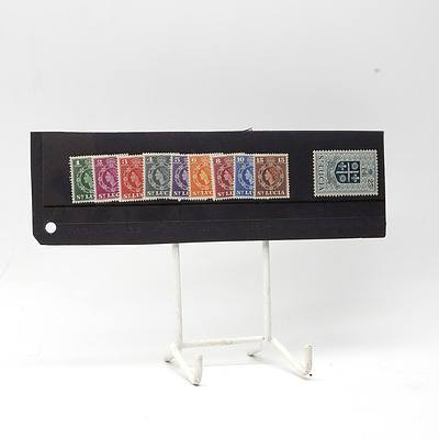 1963 Queen Elizabeth II Short Stamp Set 1c - 25c,Lightly Hinged
