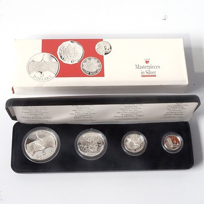 RAM 1988 Masterpieces in Silver Four Coin Set