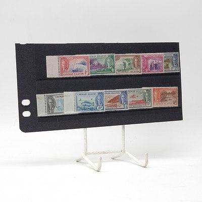 1950 King George VI 'Cayman Islands' Short Stamp Set 1/4d - 1/-, Mint