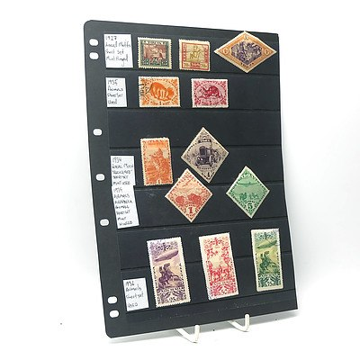1927 Local Motifs Stamps, 1935 Animal Stamps, 1936 Airmail Stamps and More