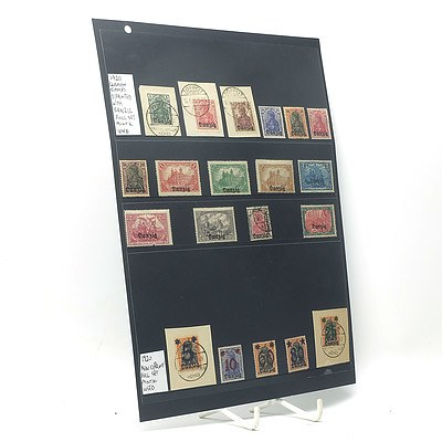 1920 German Stamps Printed with 'Danzig' Full Stamp Set