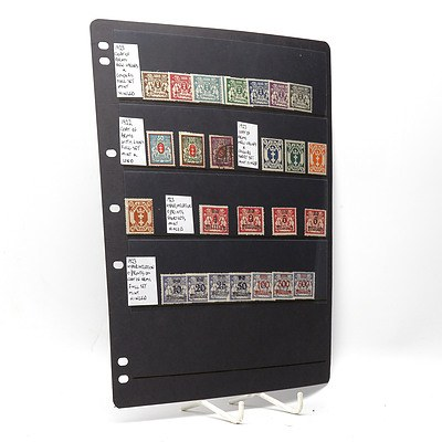 1922 Coat of Arms with Lions, 1923 Coat of Arms New Values Stamps, 1923 Hyperinflation on Coat of Arms Stamps and More