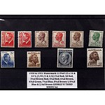Ten George VI Third Series Stamp Set