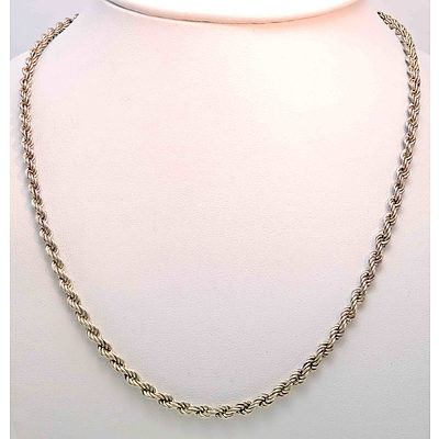 Sterling Silver Rope-Link Chain
