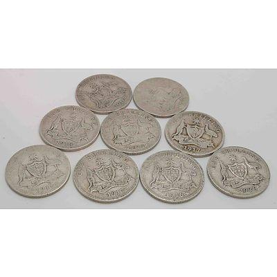 Australia: George V Sterling Silver Shillings