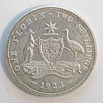 Australia: Sterling Silver Florin 1923