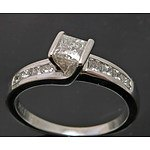 18ct White Gold Half-Carat Diamond Ring