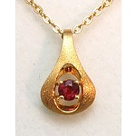 18ct Gold Ruby Pendant