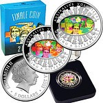 Australia $5 2003 Fine Silver Proof Coin - Hologram