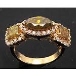 Impressive 2.99 Carats (Tdw-Est) Diamond Ring