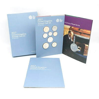The Royal Mint 2017 United Kingdom Annual Coin Set, 13 Uncirculated Coins
