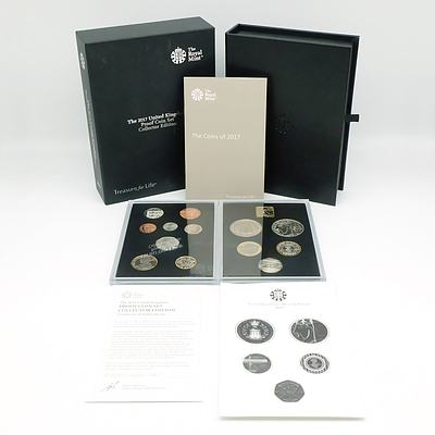 Royal Mint 2017 United Kingdom Proof Coin Set Collector Edition, 14 Proof Coins