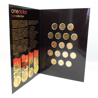 One Dollar Coin Collection, Circulating Coinage 1984-2010, 17 Coin Complete Album