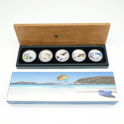 Perth Mint 2012 Discover Australia Silver Proof Five-Coin Set Complete