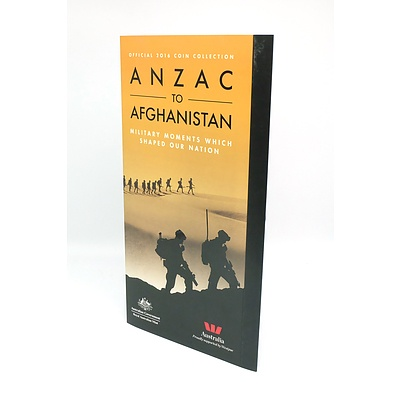 Royal Australian Mint Official 2016 Coin Collection Anzac to Afghanistan Military Moments Which Shaped Our Nation, 14 Coin Complete Set