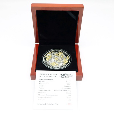 Flora and Fauna Emblems of Australia, 2017 Gold Plated Silver Proof
