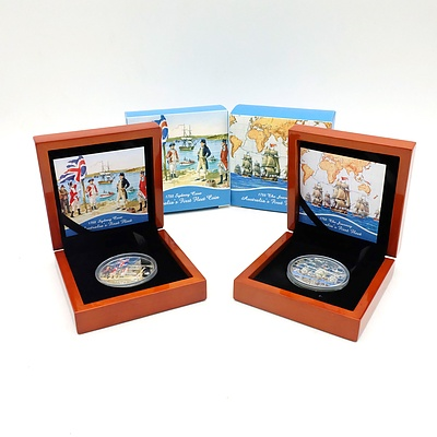 1788 Sydney Cove Australia's First Fleet Limited Edition 2013 .925 Silver Proof Coin and 1788 The Journey Australia's First Fleet Limited Edition 2013 .925 Silver Proof Coin