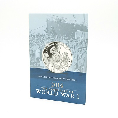Maquarie Mint, Official Commemorative Releases 2014 Centenary of World War I, 3 Coins, One Gold, Two Silver,