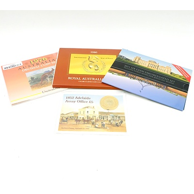 1976 Australian Decimal Coin Set Uncirculated, 2011 Six Coin Uncirculated Set Exclusive World Money Fair Berlin 2011 Release, and More
